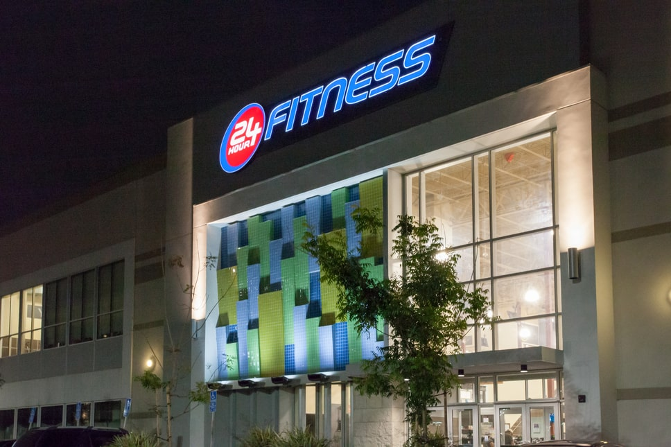 24 Hour Fitness Exterior Signs