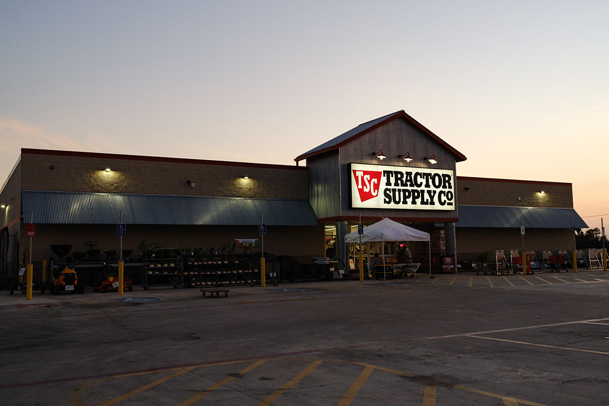 Tractor Supply Company Exterior Sign at Store Site